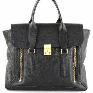 3.1 Phillip Lim Pashli Large Black Leather
